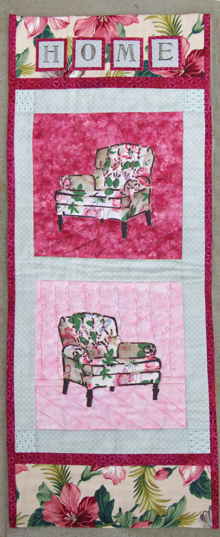 quilted fabric wall hanging